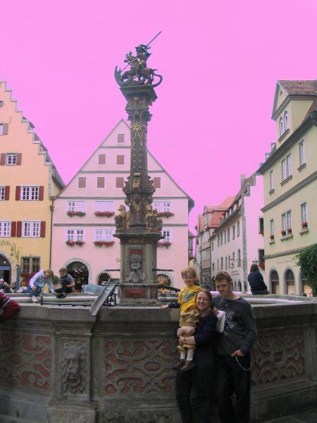 lavender fountain